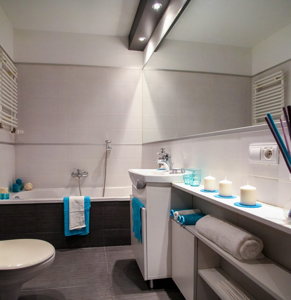 salle de bain spots