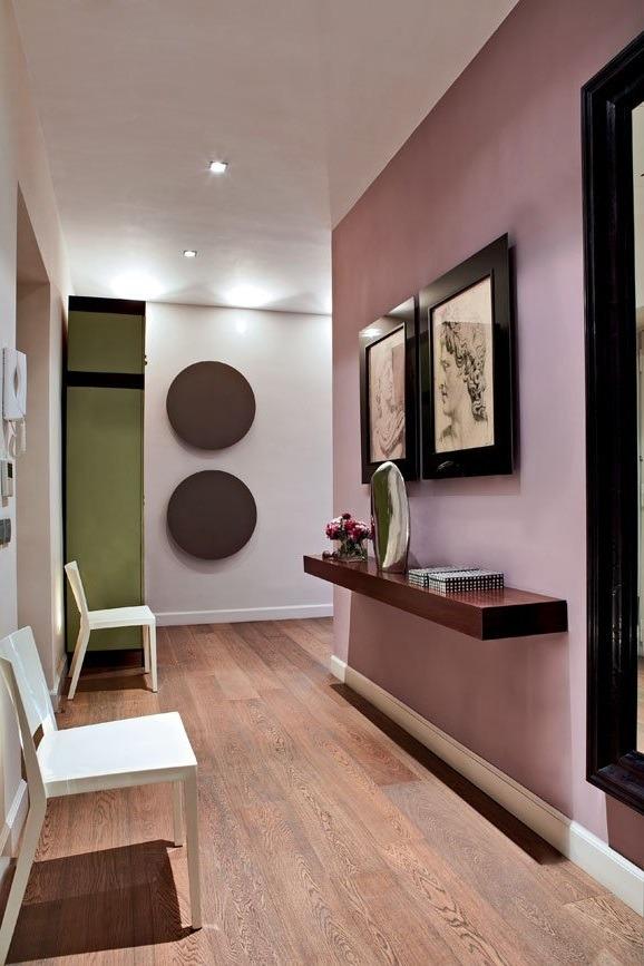 intérieur maison en rose poudré